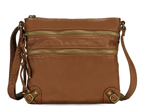 Scarleton Chic Tri Zip Crossbody Bag H197904 - Brown  Handbags ... 22876fb734c59
