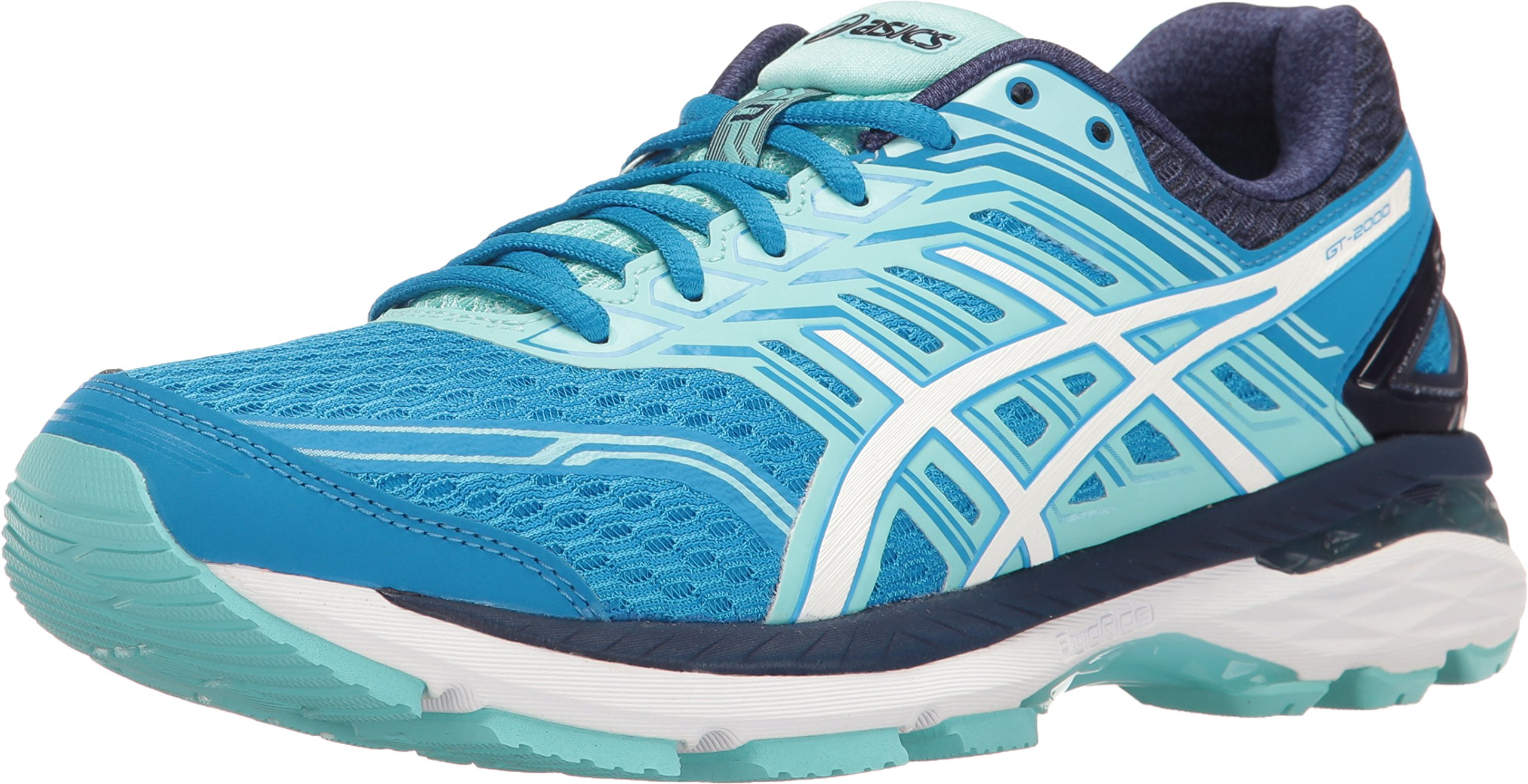 ASICS Women's GT-2000 5 Running Shoe, Diva Blue/White/Aqua Splash, 10.5 M US