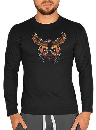 Langarm Herren T-Shirt USA Bike Motiv Choppers Adler Bike Langarmshirt für  Biker Hard Rock Longshirt für Männer Männershirt Laiberl Leiberl:  Amazon.de: ...
