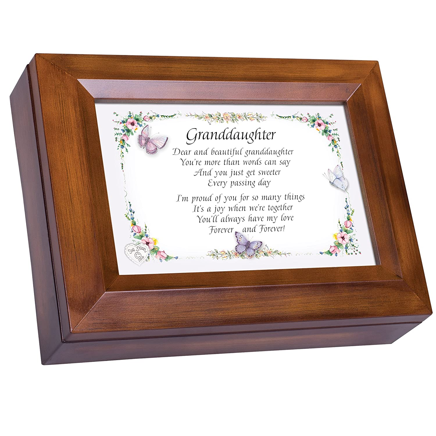 50%OFF Dear Box and Beautiful Granddaughter Dark Are Wood Finish Finish Jewellery Music Box - Plays Tune You Are My Sunshine B00P1QM8GW, 遠州屋酒店:d91cd48f --- arcego.dominiotemporario.com