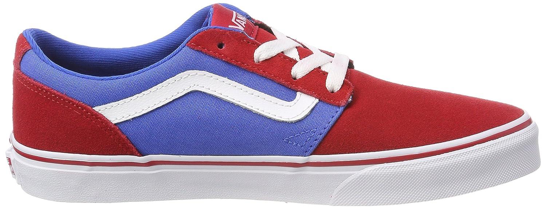 Vans Chapman Stripe, Zapatillas Unisex Niños, Multicolor ((Suede/Canvas) Red/Blue R7y), 27.5 EU