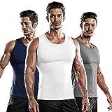 DRSKIN 1~3 Pack Undershirts Running Shirt Tank Tops Men's Cool Dry Compression Baselayer Sleeveless (NM-TA-(W,N,G), 2XL)
