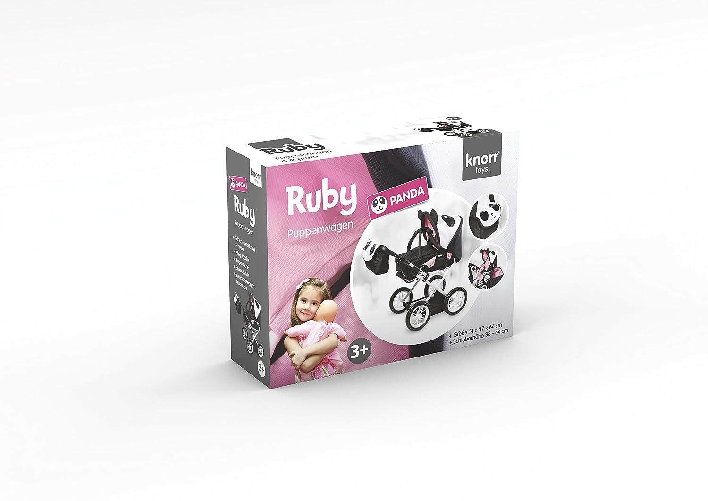 Knorr Toys Knorr63101Combi Ruby Panda Poupées Landau et Poussette pour Poupée knoortoys/_63101