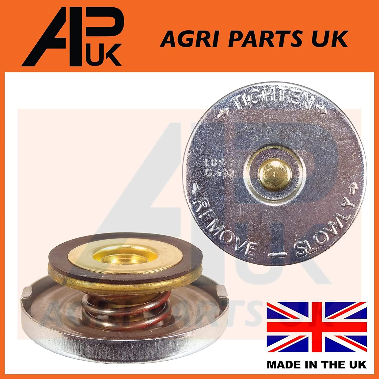 APUK Case International Harvester IH 384 434 444 250 275 414 Tractor Radiator Cap Agri Parts UK Ltd