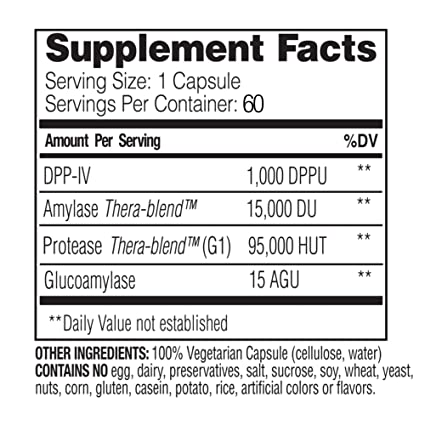 Enzymedica, GlutenEase, Digestive Aid for Gluten and Casein Digestion, Vegan, Non-GMO, 60 Capsules (60 Servings) (FFP)
