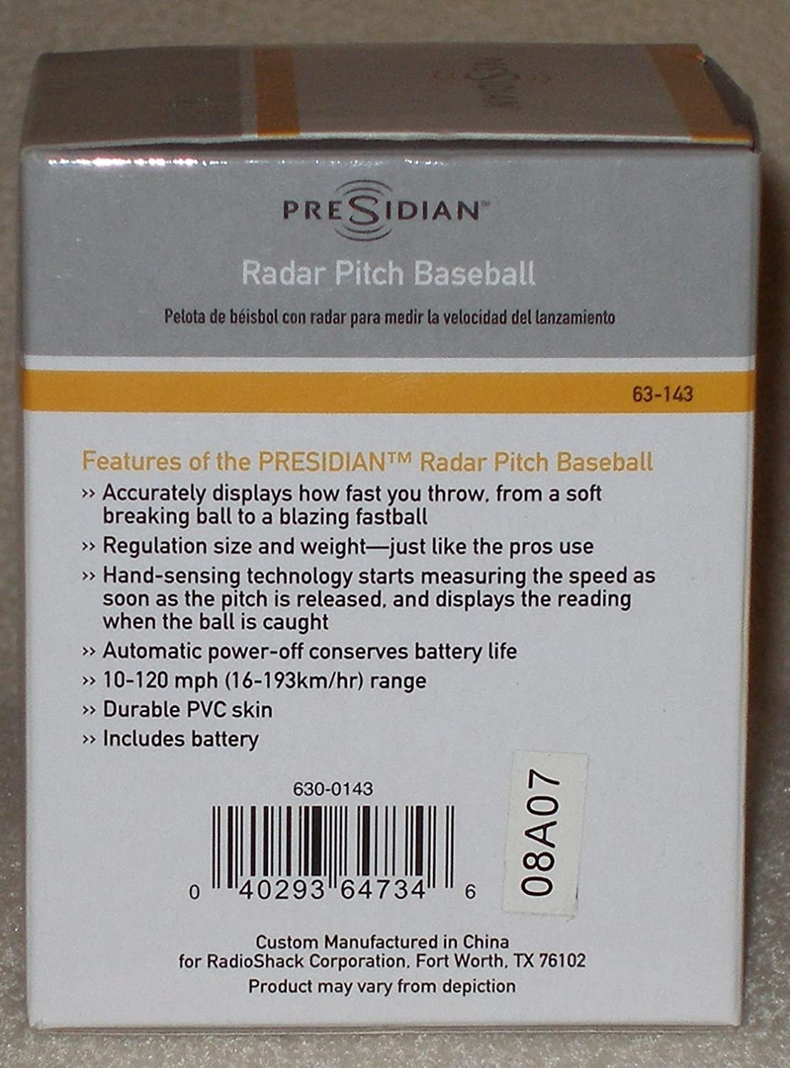 Amazon.com : Presidian Radar Pitch Baseball : Baseball Pitching Training Aids : Sports & Outdoors