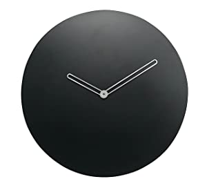 Crimson Knot Minimalistic Wall Clock - Black (9.5 in)