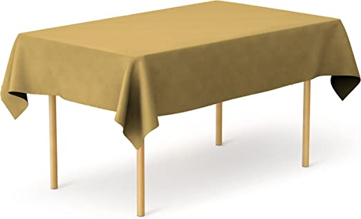 """Table Covers 54/"""" x 108/"""" Plastic Tablecloth Table Clothes Pick Your Color NEW"""
