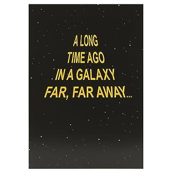 Hallmark Star Wars Birthday Card Galaxy Far Far Away Medium