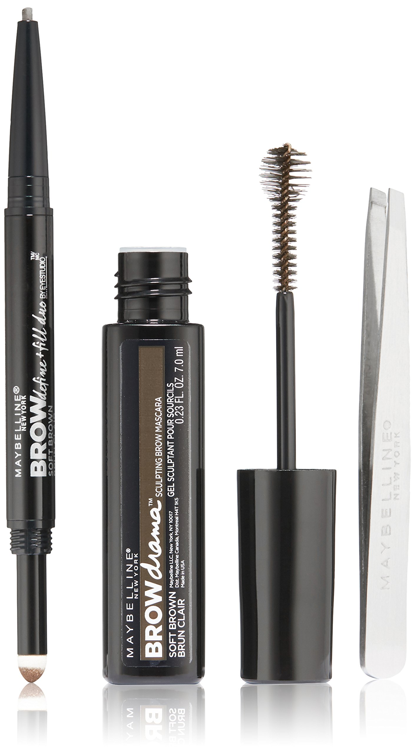 Maybelline New York Brow Gift Set, Soft Brown