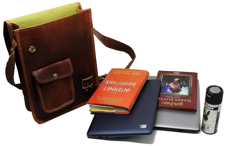 554f30943c Amazon.com  PV-Stylish Men s Genuine Distressed Leather Brown Shoulder  Messenger Passport Bag Murse Sling Bag Leather Bag Cross Body Bag Man Purse  Notebook ...