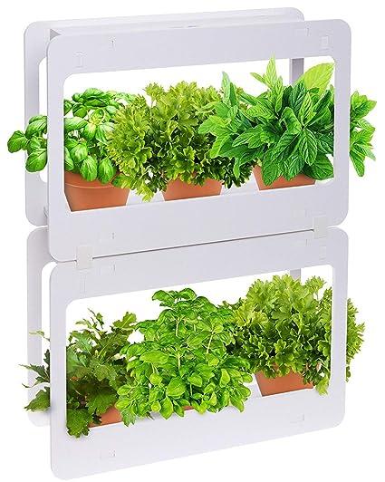 Mindful Design Stackable LED Indoor Garden   Grow Herbs, Succulents U0026  Vegetables
