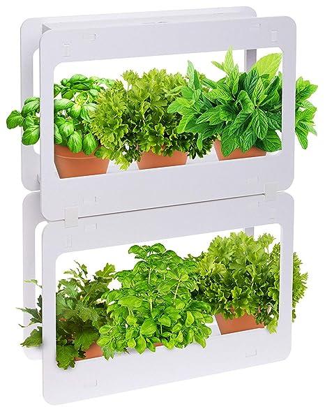 Mindful Design Stackable Led Indoor Garden Kit Grow Herbs Succulents Vegetables