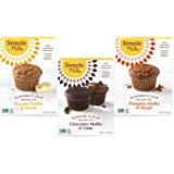Simple Mills, Baking Mix Variety Pack, Banana Muffin & Bread, Chocolate Muffin & Cake, Pumpkin Muffin & Bread Variety Pack, 3