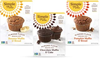 product image for Simple Mills, Baking Mix Variety Pack, Banana Muffin & Bread, Chocolate Muffin & Cake, Pumpkin Muffin & Bread Variety Pack, 3 Count (Packaging May Vary)