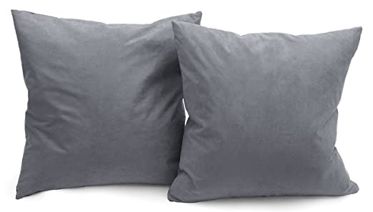 Amazon Deluxe Comfort Microsuede Throw Pillows 40 X 40 Unique Down Filled Decorative Pillows