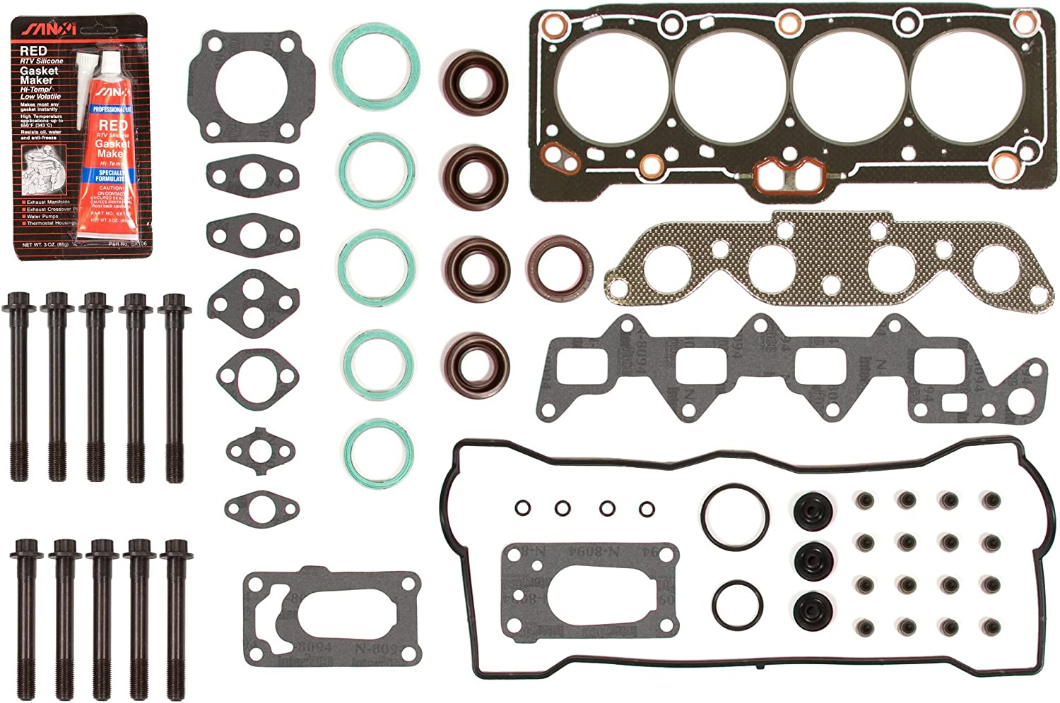 Evergreen HSHB2011 Cylinder Head Gasket Set Head Bolt