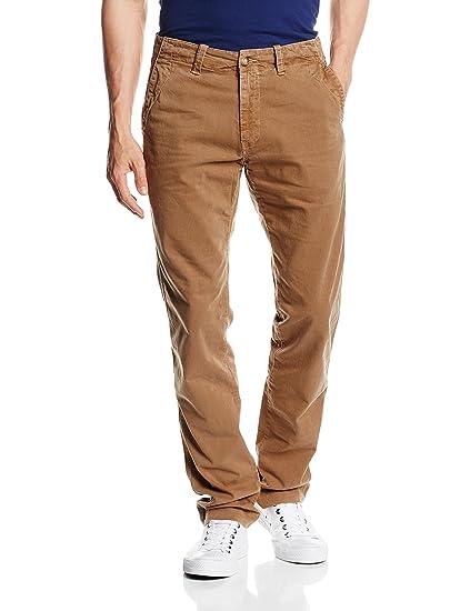 Mens Chinois Étirer Gabardine, Vestibilità Pantalon Regolare Carrière
