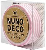 KAWAGUCHI(カワグチ) NUNO DECO TAPE ヌノデコテープ 1.5cm幅 1.2m巻 ももいろしましま 11-847