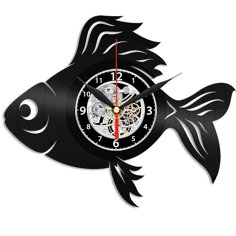 EVEVO Reloj de Pared de Oro con diseño de pez y Silueta Vintage ...