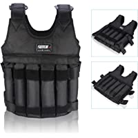 Adjustable Weighted Vest Workout Exercise Boxing Training Fitness (Weights not Included)