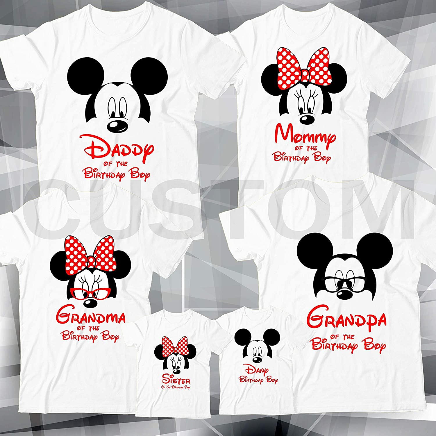Disney Family Birthday Shirt Custom Personalized Name And Age T