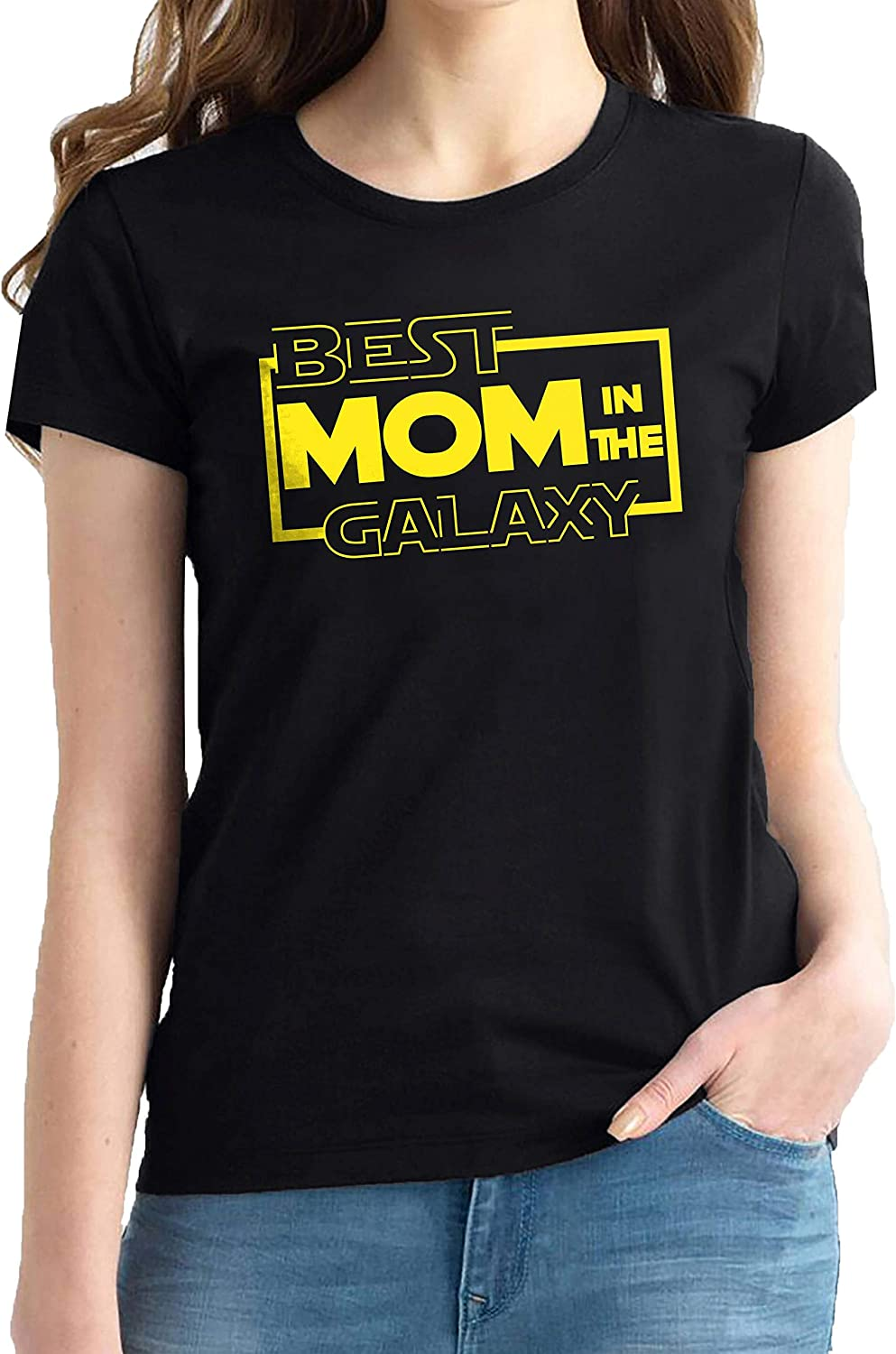 Star Wars Fathers Day Shirt - Adult Best Mom in The Galaxy Shirts - Novelty Shirt for Women