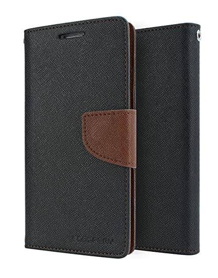 official photos dc392 0f0a1 Mercury Goospery Wallet Flip Cover for Xiaomi Redmi 3S Prime (Black and  Brown)