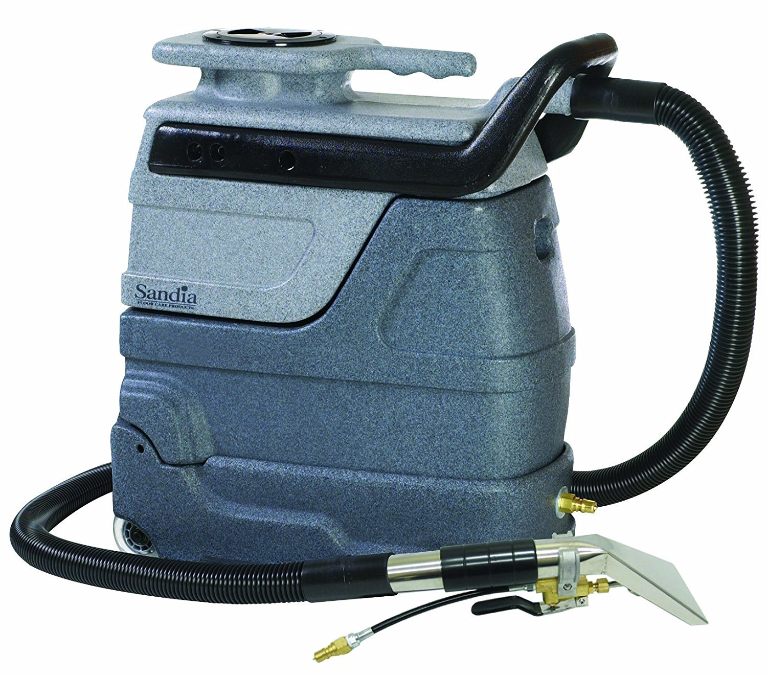 """Sandia 50-4000 Spot-Xtract 3-Gallon Spot Extractor Heater, 15' Hoses, 4"""" Stainless Steel Hand Tool, 55 psi Pump, 100 CFM, 804W, 2-Stage Motor up to 200 Degree F Heater"""