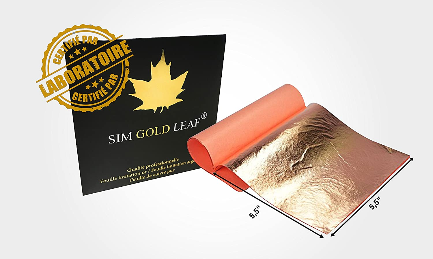 Genuine COPPER Leaf Sheets, Professional Quality, 25 Sheets, 5.5 inches Booklet (Transfer/ Patent) sim depot 4336855714