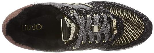 Amazon.com | Liu Jo Shoes Woman Low Sneakers B68023 TX012 Gigi 02 Running Black/Pink | Fashion Sneakers