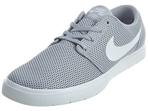 b4fce967507262 Nike SB Portmore II Ultralight Wolf Grey White Men s Skate Shoes  Buy  Online at Low Prices in India - Amazon.in