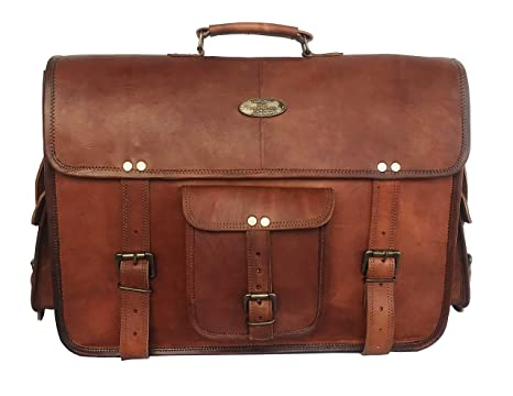 a4158898e6fd Image Unavailable. Image not available for. Color  15 Inch Vintage Handmade  Leather Messenger Bag for Laptop Briefcase Best Computer Satchel School ...