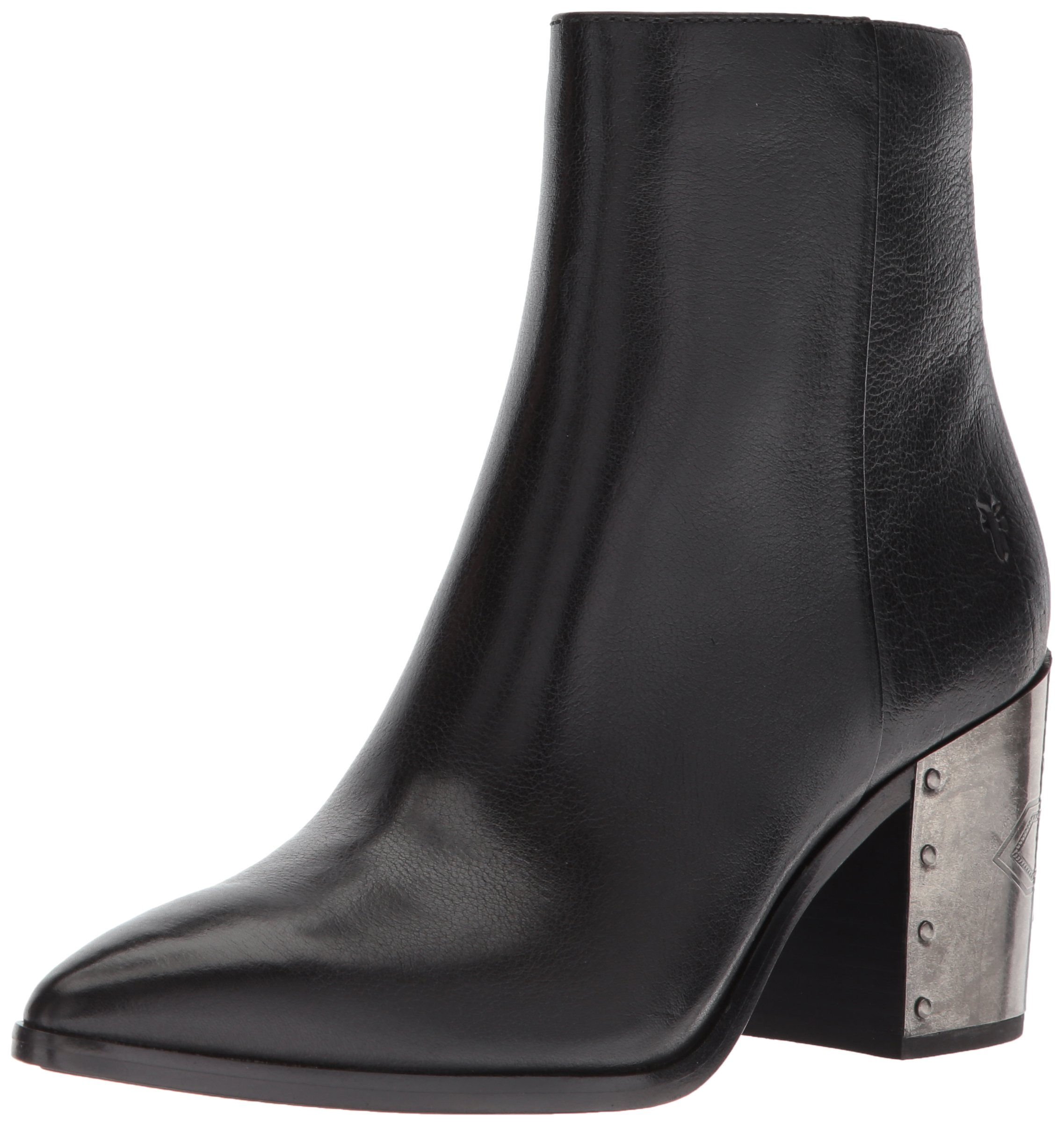 FRYE Women's Flynn Omaja Short Inside Zip Ankle Boot, Black, 7.5 M US
