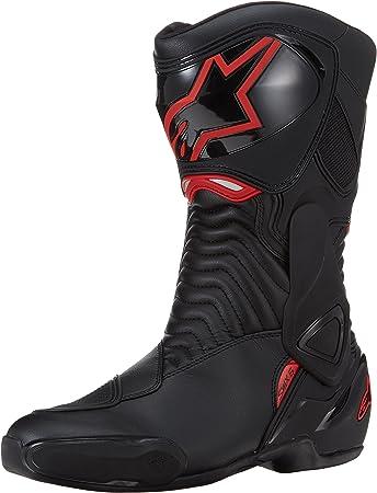 Talla 43 Alpinestars SMX-6 V2 Color Negro y Rojo Botas de Motociclista