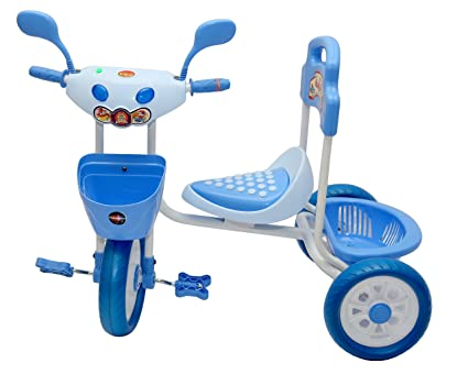7ee493a50f8 Buy Baby Tricycle for kids With front & Back Basket, Blue Oximus Online at  Low Prices in India - Amazon.in