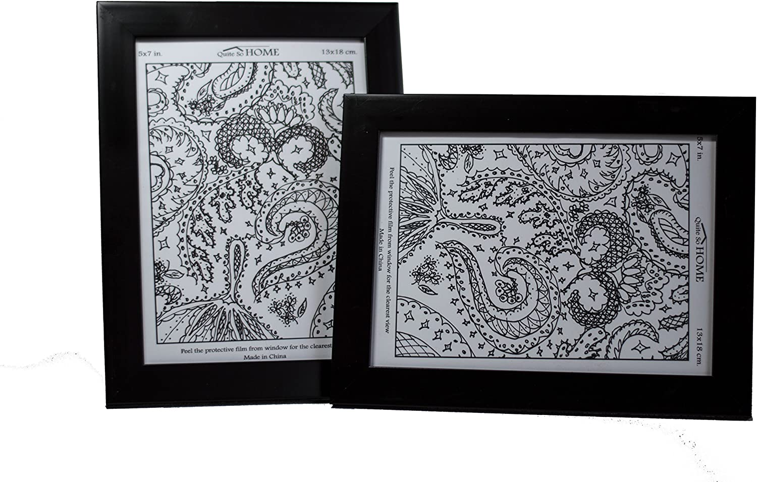 Quite So Home Picture Frame 2 Black Long-awaited Set 25% OFF 5x7 of
