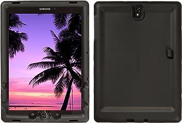 Amazon Com Bobj Rugged Case For Samsung Galaxy Tab S3 9 7 Sm T820 Sm T825 Sm T827 Sm T827v Bobjgear Custom Fit Patented Venting Sound Amplification Bobjbounces Kid Friendly Bold Black Computers