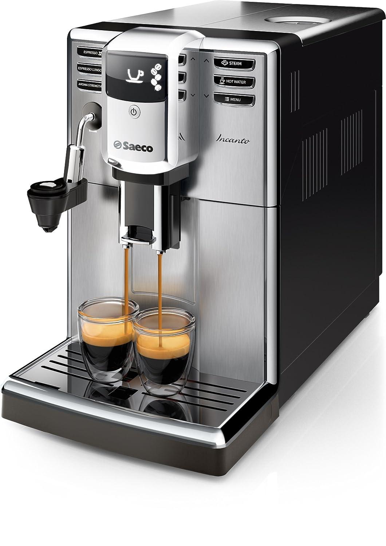 Philips Incanto Cafetera Espresso Super Automática, 1850 W, 1.8 litros, plástico, Negro y metalizado