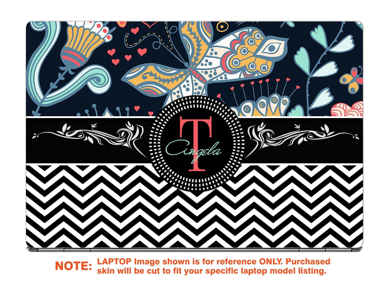 decalrus Protective decal for the Lenovo ThinkPad Yoga 370 (13.3'' Screen) laptop with customized monogram LEtnkpadYoga370-Monogram38