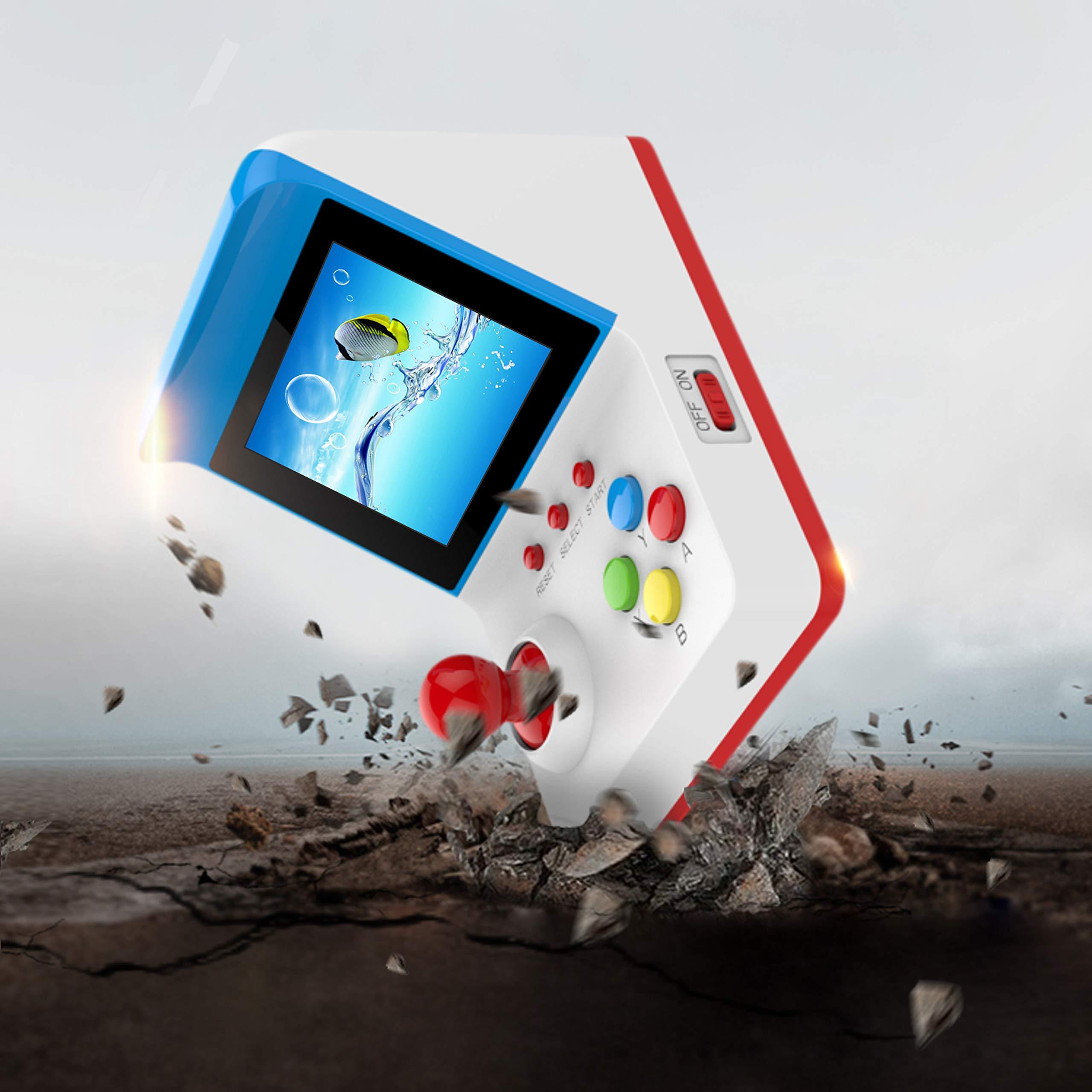 BAORUITENG Handheld Game Console, Retro FC Game Console Video Game Console with 3 Inch 360 Classic Games with 2 Joysticks , Birthday Present for Children (red) by BAORUITENG (Image #4)