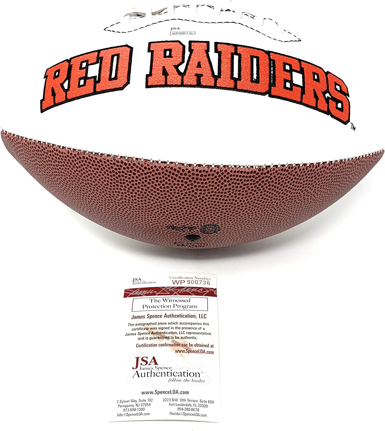 Patrick Mahomes Kansas City Chiefs Signed Autograph Embroidered Logo Football JSA Witnesesd Certified