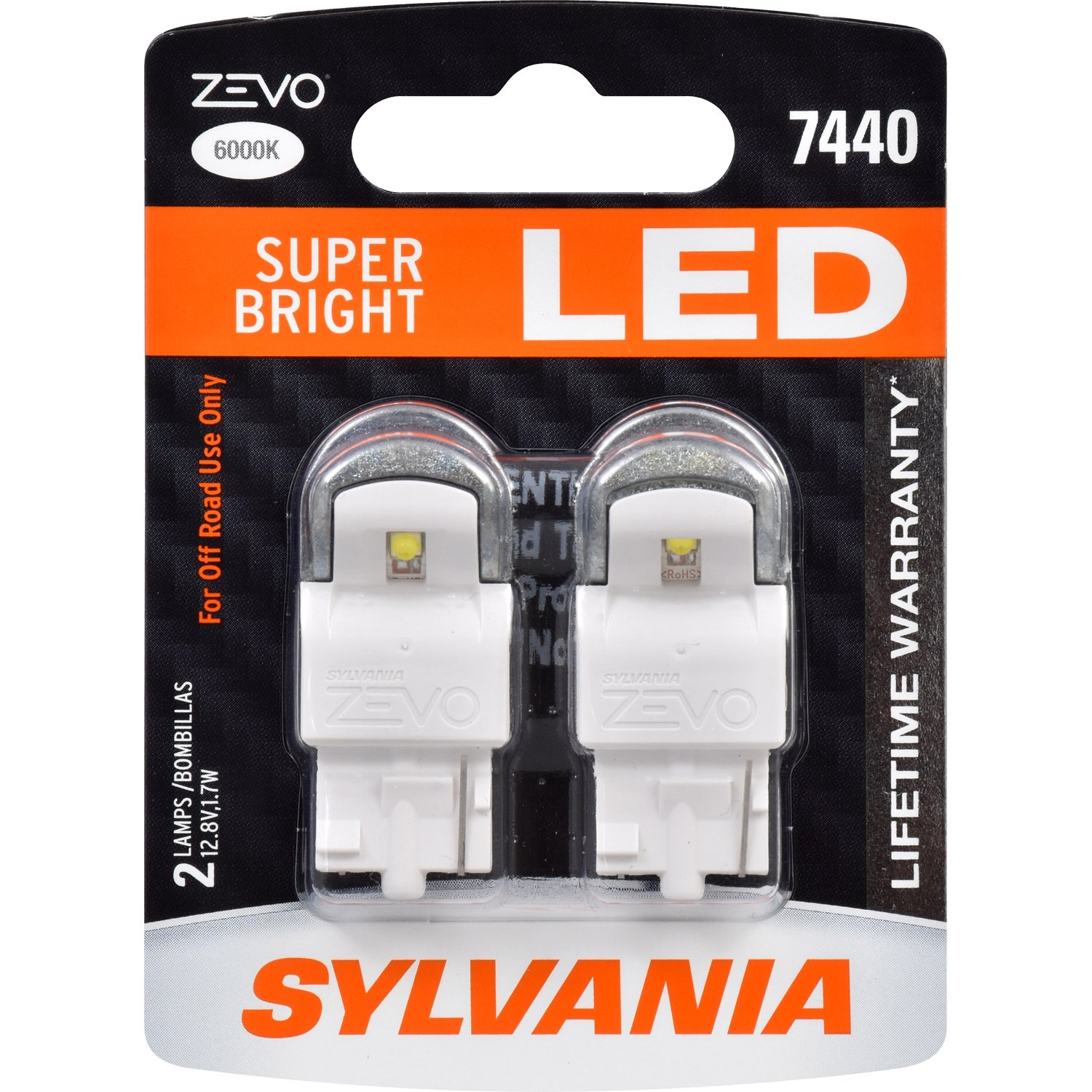 Amazon.com: SYLVANIA - 7440 T20 ZEVO LED Red Bulb - Bright LED Bulb, Ideal for Stop and Tail Lights (Contains 2 Bulbs): Automotive