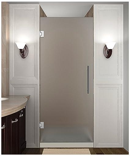 Aston Cascadia 24 X 72 Completely Frameless Hinged Shower Door In