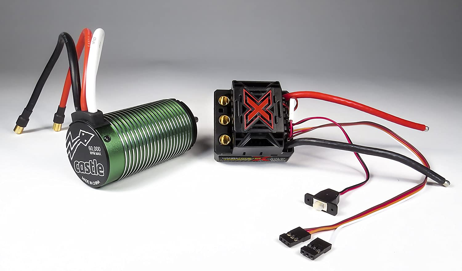 Castle Creations Monster X 252v 8a Peak Bec Cable With Regulator To Provide The Battery Eliminator Circuit Function 1512 2650kv Motor Electronic Speed Controller Toys Games