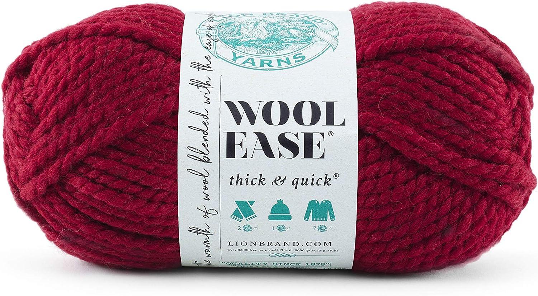 Taglia Unica Lion Brand Yarn Company 640-189A Wool-Ease-Filato Spesso e Veloce Butterscotch