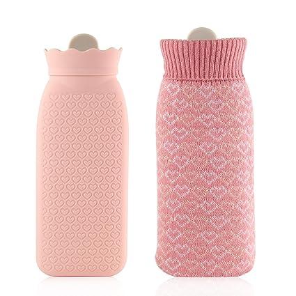 Botella de agua caliente bolsa de agua caliente botella de agua caliente de silicona de seguridad