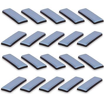Teflongleiter 20 x 20 mm selbstklebend PTFE Möbelgleiter eckig Klebegleiter