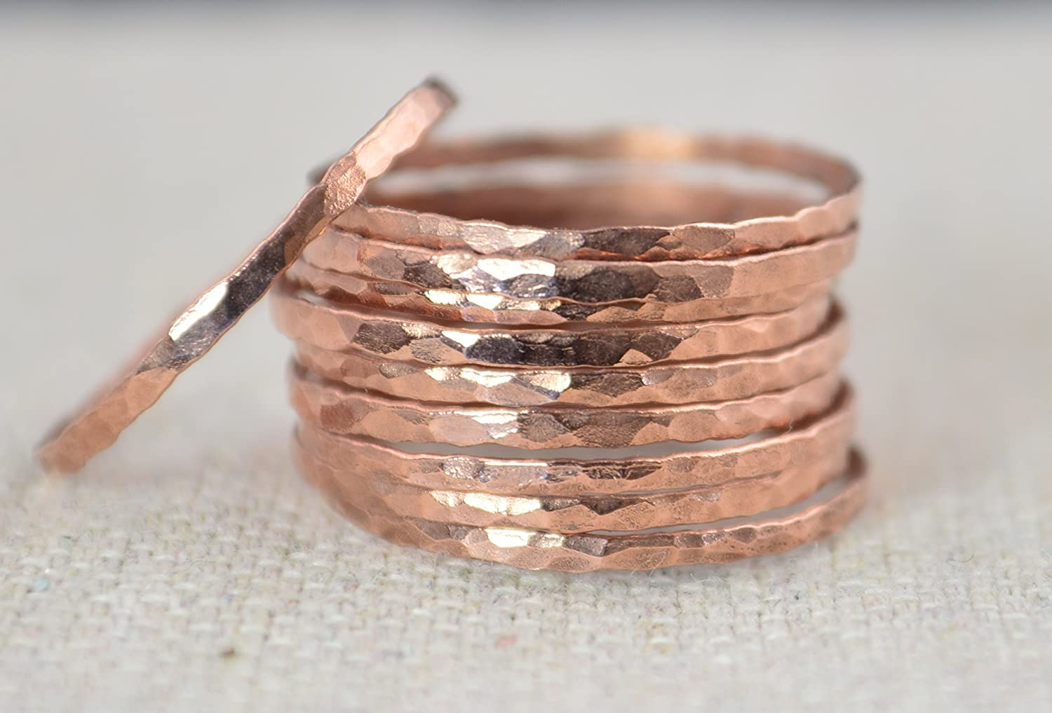B01660RQEA Super Thin Copper Stackable Ring (Sold Individually) 81uoDLGO-cL