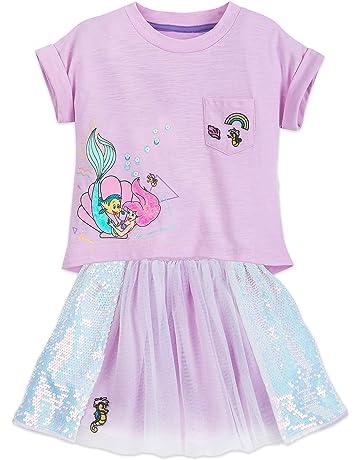 76122f7b5c Disney Ariel Shirt and Skirt Set for Girls Purple